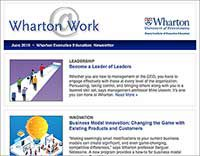Wharton@Work newsletter