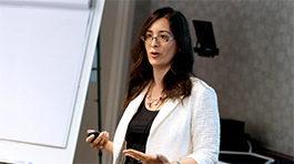 Professor Nancy Rothbard teaching