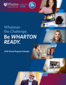 Wharton Program Calendar